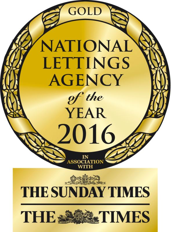 National Lettings Agency of the Year 2016 - Gold award